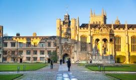 De binnenwerf van drievuldigheidscollega, Cambridge royalty-vrije stock afbeelding