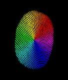 De biometrische regenboog van de vingerafdruk royalty-vrije illustratie
