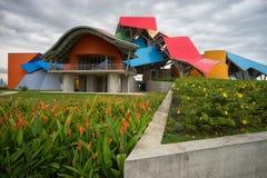 De Biomuseumbouw in Panama stock afbeelding
