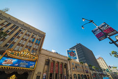 De bioscoop van Gr Capitan in Hollywood-boulevard Stock Afbeeldingen