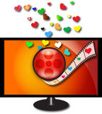 De bioskoop van de liefde Stock Foto's