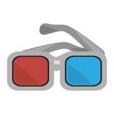 De bioskoopontwerp van de glazen 3d film Royalty-vrije Illustratie