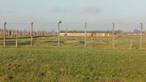 De Birkenaugevangenen kamperen Stock Afbeelding