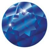 De birthstone-Saffier van september Royalty-vrije Stock Foto's