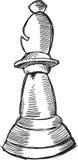 De Bischop Vector van het krabbelschaak Stock Foto
