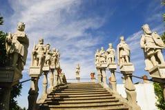 De Bisschoppelijke Tuin van Jardim, Castelo Branco Stock Afbeelding