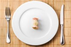 De bit van de appel op de plaat Royalty-vrije Stock Afbeeldingen