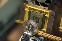 Or de Bitcoin - cryptocurrency numérique de blockchain image libre de droits