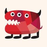 De bizarre elementen van het monster vlakke pictogram, eps10 Stock Afbeelding