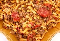 De Bizon van de grond en de Macaroni van de Cheddar stock afbeelding