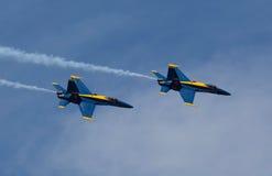 De blåa änglarna på Seafair Royaltyfria Bilder