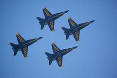 De blåa änglarna på Seafair Arkivfoto