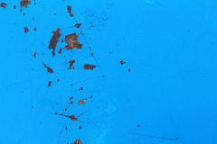 De blåa väggarna är bakgrund Arkivbild