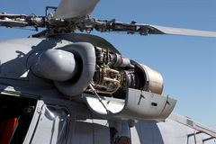 De Bladen van de helikopter Stock Fotografie