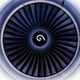 De bladen van de straalmotorturbine Stock Afbeelding