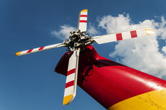 De bladen van de turbine en van de helikopter Royalty-vrije Stock Afbeeldingen