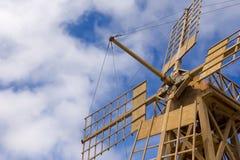 De bladen van de windmolen. Stock Fotografie
