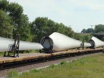 De bladen van de windturbine Stock Afbeelding