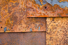 De bladen van het ijzer met roest Stock Fotografie