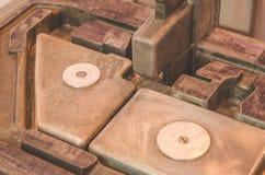 De bladen van de metaalplaat, op de productie-installatie Royalty-vrije Stock Fotografie