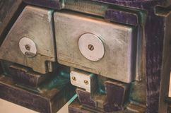 De bladen van de metaalplaat, op de productie-installatie Royalty-vrije Stock Foto's