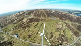 De bladen van de windturbine voor bouw bij de haven worden gestapeld die royalty-vrije stock fotografie