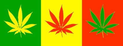 De bladeren van de cannabis Royalty-vrije Stock Foto