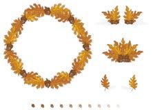 De Bladeren van de Elementen van het Ontwerp van de herfst Vector Illustratie