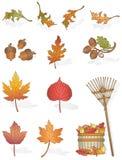 De Bladeren van de herfst Royalty-vrije Illustratie