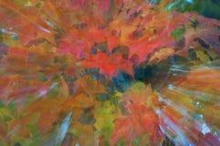 De Bladeren van de herfst in Samenvatting Stock Afbeelding