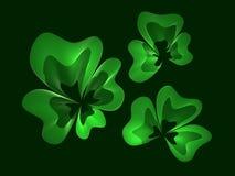De bladeren van de klaver Stock Afbeeldingen