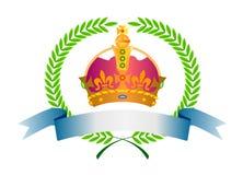 De bladeren van de kroon en van de laurier vector illustratie