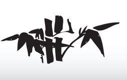 De bladeren van het bamboe stock illustratie