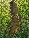 De bladeren van het elf Stock Afbeeldingen