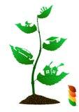 De bladeren van het pictogram Stock Foto's