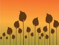 De bladerenillustratie van de herfst Stock Afbeelding