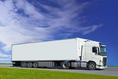 De blanc camion semi Images libres de droits