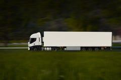 De blanc camion semi Photos stock