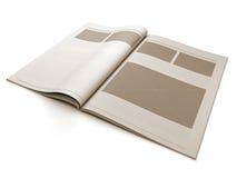 De blanco pagina van het tijdschrift voor ontwerplay-out Stock Afbeeldingen