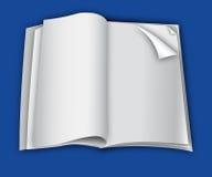 De blanco paginamalplaatje van het tijdschrift voor ontwerplay-out. Stock Afbeeldingen