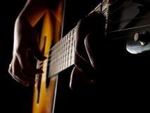 De blauw van de gitaar Stock Fotografie