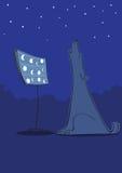 De blauw van de hond royalty-vrije illustratie