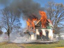 De Blauw van Housefire Stock Fotografie