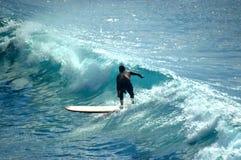 De Blauw van Surfin Stock Foto