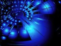 De Blauw van Techno Stock Afbeelding