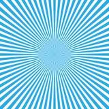 De blauw-witte achtergrond van de kleurenuitbarsting van lichte stralen Beeldverhaal en strippaginastijlachtergrond Vector illust Royalty-vrije Stock Afbeelding