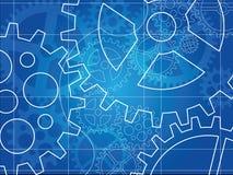 De blauwdruk abstract ontwerp van het toestel Stock Fotografie