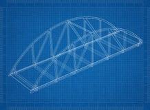 De blauwdruk van de brugarchitect royalty-vrije illustratie