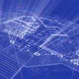 De blauwdruk van de architectuur Royalty-vrije Stock Afbeelding