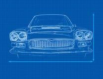 De Blauwdruk van de auto Stock Fotografie